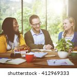 diverse people friendship... | Shutterstock . vector #412969333