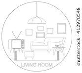 living room interior. raster... | Shutterstock . vector #412970548