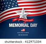 memorial day. remember and... | Shutterstock .eps vector #412971334