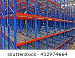 warehouse shelving storage...   Shutterstock . vector #412974664