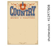 Country Music Festival Poster...