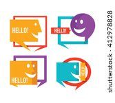 vector collection of talking ... | Shutterstock .eps vector #412978828