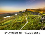 Quiraing Mountains Sunset At...