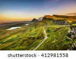 Quiraing Mountains Sunset At...