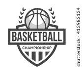 sport basketball logo. black... | Shutterstock .eps vector #412983124