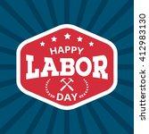labor day background. vintage... | Shutterstock .eps vector #412983130
