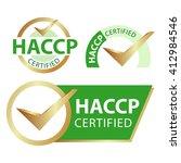 haccp certified  | Shutterstock .eps vector #412984546