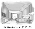 interior sketches into digital...   Shutterstock . vector #412993183