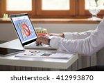 businessman working with laptop ... | Shutterstock . vector #412993870