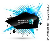 vector banner in blue tones.... | Shutterstock .eps vector #412995160