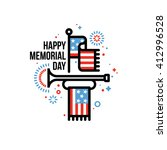 happy memorial day vector... | Shutterstock .eps vector #412996528
