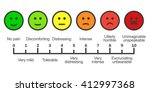 pain scale chart. stock vector... | Shutterstock .eps vector #412997368