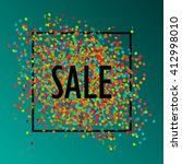 festive sale background with... | Shutterstock .eps vector #412998010