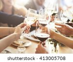 business people party... | Shutterstock . vector #413005708