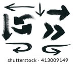 set of many different arrows on ... | Shutterstock . vector #413009149