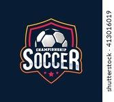 soccer logos  american logo... | Shutterstock .eps vector #413016019