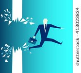 business breakthrough success... | Shutterstock .eps vector #413023834