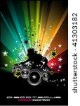 abstract rainbow disco music... | Shutterstock .eps vector #41303182