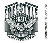 free style skate sport... | Shutterstock .eps vector #413044240