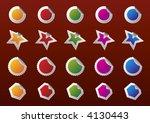 sticker design pack | Shutterstock .eps vector #4130443