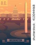 washington vector landescape... | Shutterstock .eps vector #413044468