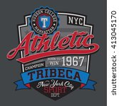 athletic sport typography  t... | Shutterstock .eps vector #413045170