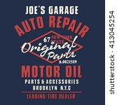 motorcycle oil typography  t...   Shutterstock .eps vector #413045254
