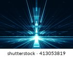 3d abstract lens flare space or ... | Shutterstock . vector #413053819