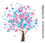 floral tree | Shutterstock .eps vector #41306086