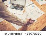 businessman analyzing...   Shutterstock . vector #413070310