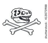 Prehistory Dino Logo Concept. ...