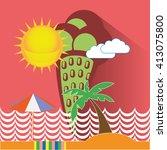 summer vacation illustration.... | Shutterstock .eps vector #413075800
