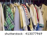 men's clothes in the closet.... | Shutterstock . vector #413077969
