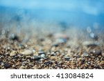Background With Pebbles And...