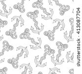 seamless pattern with anchors... | Shutterstock .eps vector #413087704