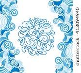 water drops pattern vector... | Shutterstock .eps vector #413094940