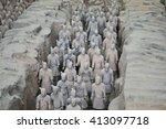 terracotta army  china  xian ... | Shutterstock . vector #413097718