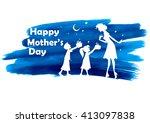 illustration of kids giving... | Shutterstock .eps vector #413097838