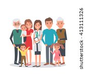 family doctor illustration. big ... | Shutterstock . vector #413111326