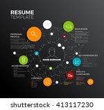 vector original minimalist cv   ... | Shutterstock .eps vector #413117230