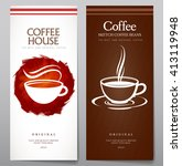 vector set of coffee. light and ...   Shutterstock .eps vector #413119948