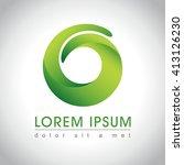 Abstract Green Swirl Logo...