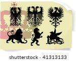 vector silhouettes  heraldic 1  ... | Shutterstock .eps vector #41313133