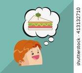 sandwich design. healthy food... | Shutterstock .eps vector #413132710