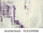 creative wall painting  modern  ... | Shutterstock . vector #413134006