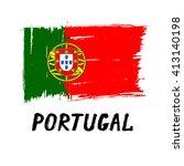 Portuguese Flag    Grunge