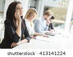 business people working... | Shutterstock . vector #413141224