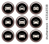 car icons metal icon set. ... | Shutterstock . vector #413163538