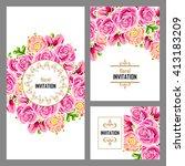 vintage delicate invitation... | Shutterstock . vector #413183209