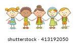 doodle illustration ... | Shutterstock .eps vector #413192050